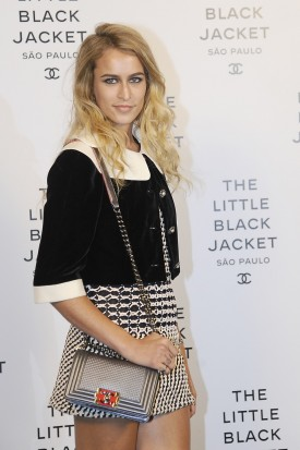 Alice Dellal | Chanel's The Little Black Jacket opening in São Paolo (Photography: via Styleite.com)