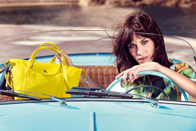 Alexa Chung for Longchamp Spring 2014 (Photography: Max Vadukul)