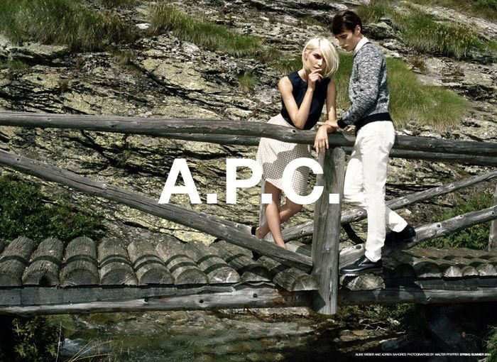 Aline Weber for A.P.C. Spring 2014 (Photography: Walter Pfeiffer)
