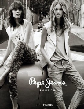 Marta Dyks for Pepe Jeans Spring 2014 (Photography: Josh Olins)