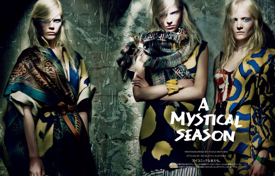 Ola Rudnicka & Maja Salamon | Vogue Japan March 2014 (Photography: Paolo Roversi)