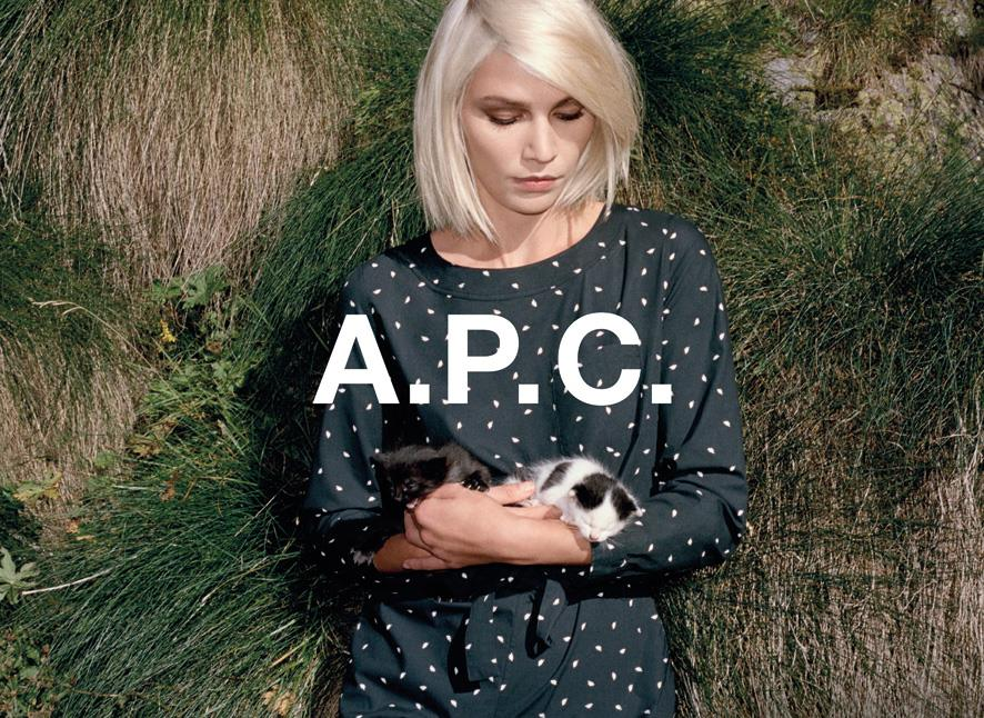 Aline Weber for A.P.C Spring 2014 (Photography: Walter Pfeiffer)