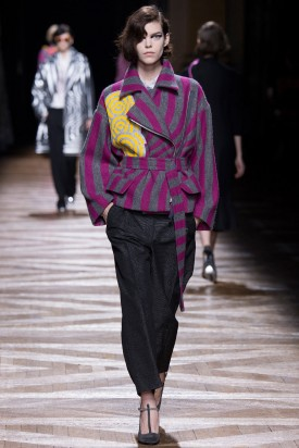 Meghan Collison | Dries Van Noten Fall 2014 (Photography: Yannis Viamos / Indigitalimages.com via Style.com)