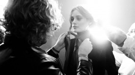 Thairine García with Peter Dundas | Emilio Pucci Fall 2014 (Video still: Damien Neva)