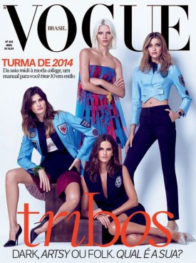 Isabeli Fontana, Aline Weber & Ana Beatriz Barros | Vogue Brasil April 2014 (Photography: Jacques Dequeker)