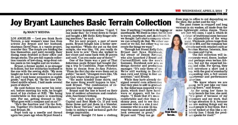 Joy Bryant Launches Basic Terrain Collection | WWD Wednesday, April 2, 2014