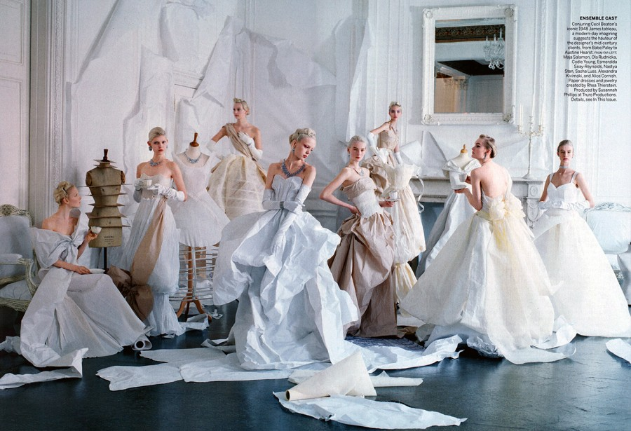 Maja Salamon, Ola Rudnicka & Esmeralda Seay-Reynolds | Vogue May 2014 (Photography: Tim Walker)
