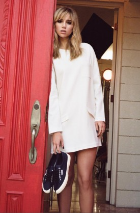 Suki Waterhouse for Superga Spring 2014 (Photography: via superga.co.uk)