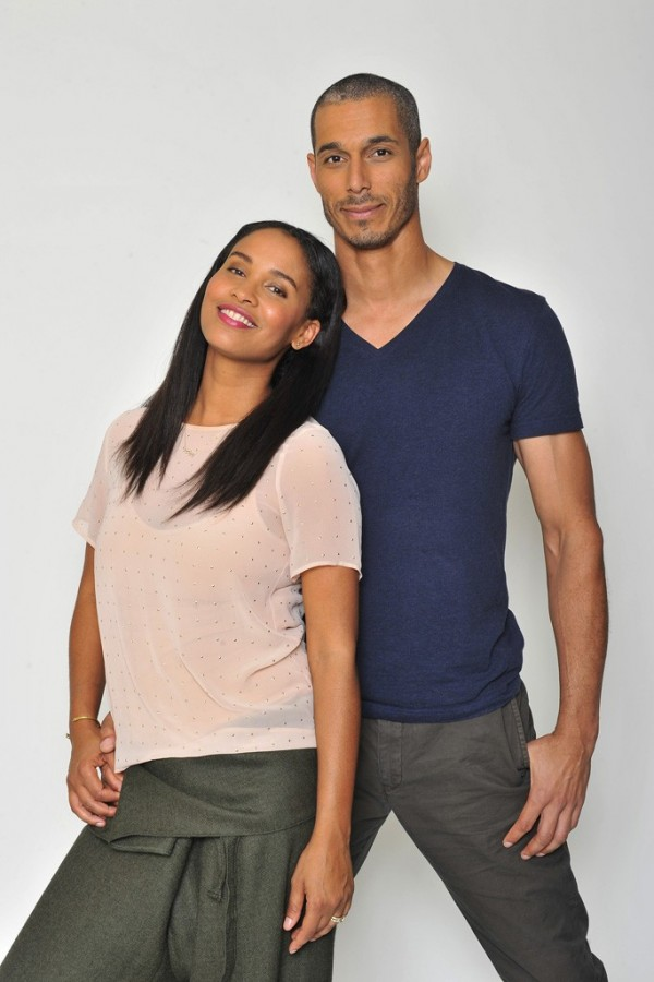 Joy Bryant & David Pope (Photography: Donato Sardella via WWD.com)