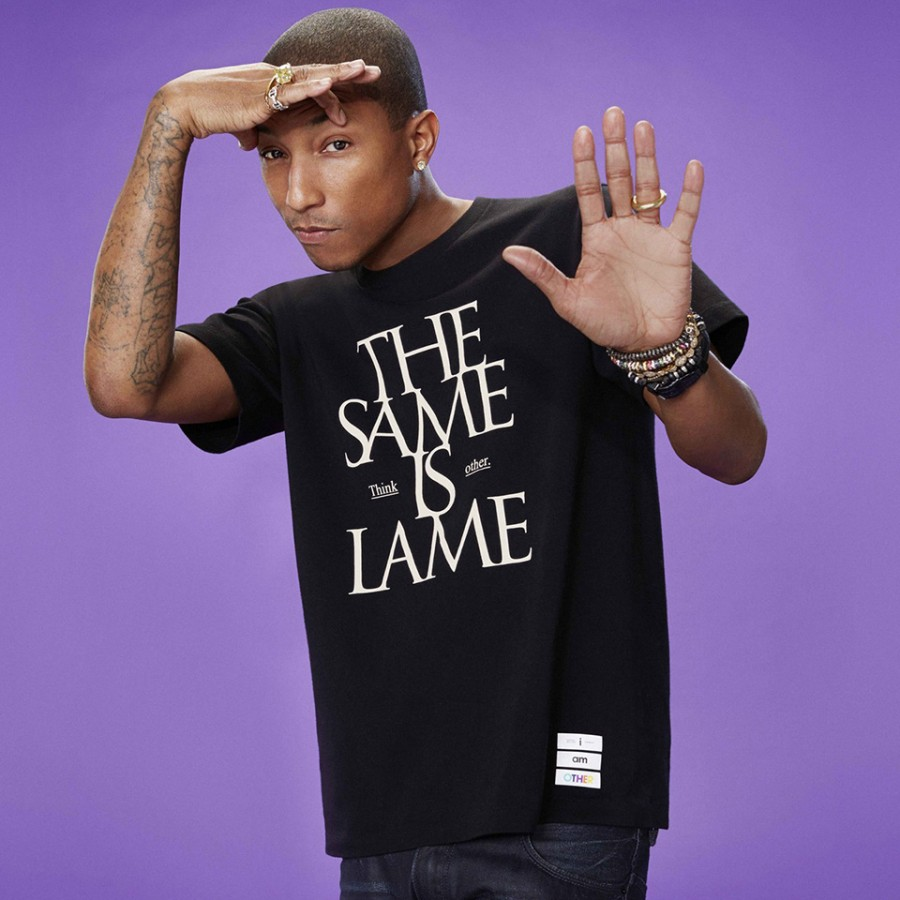 "Pharrell Williams and UNIQLO collaborate on ""i am OTHER"" apparel line (Photography: via vogue.co.uk)"