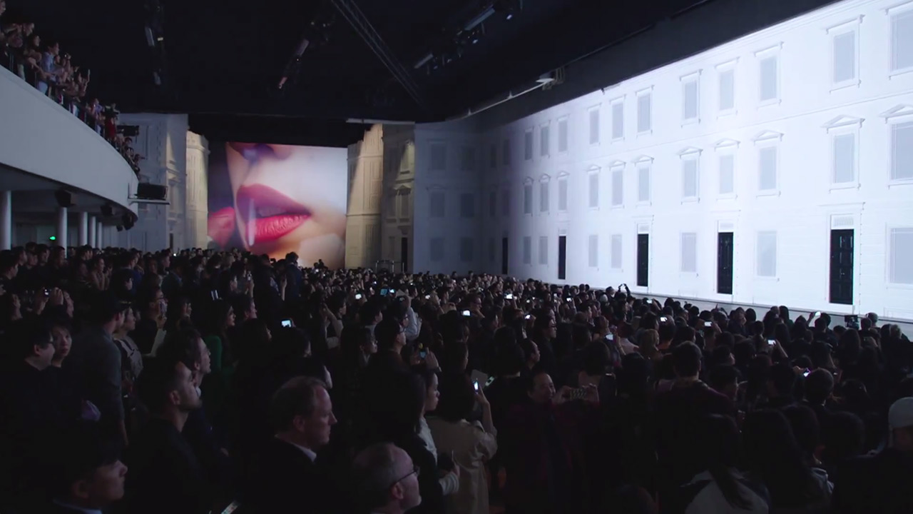 Burberry Prorsum AW14 in Shanghai (Video still: via youtube.com/Burberry)