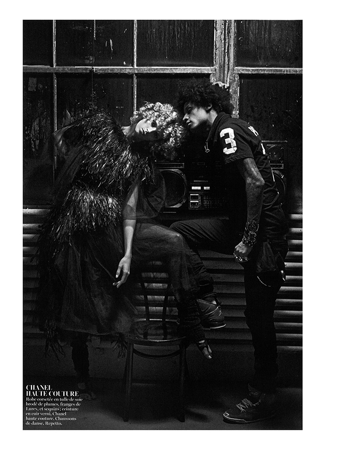Laurent Bourgeois of Les Twins | Vogue Paris (Photography: Mario Sorrenti)