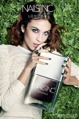 Alexa Chung Named Face of Nails Inc (Photography: courtesy of Nails Inc via wwd.com)