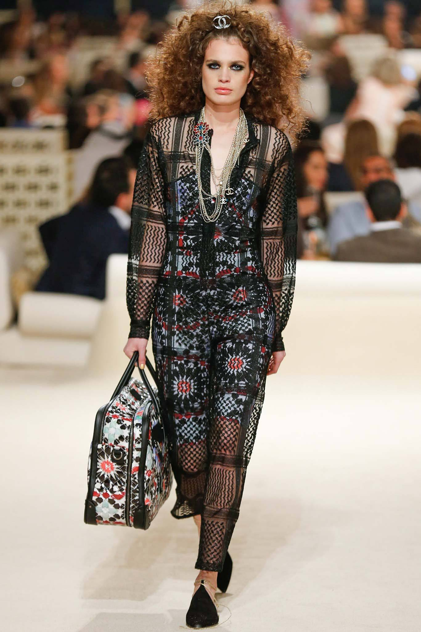 Constanza Saravia | Chanel Cruise 2015 (Photography: Gianni Pucci / Indigitalimages.com via Style.com)
