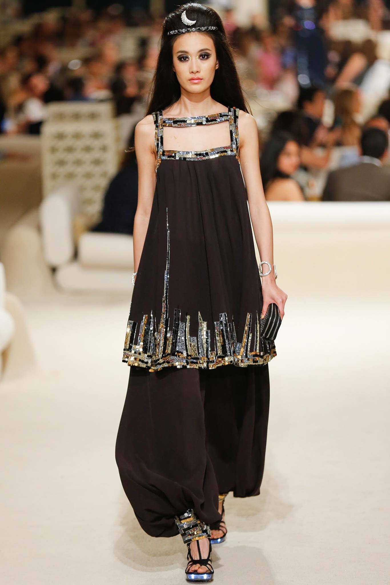 Shu-Pei Qin | Chanel Cruise 2015 (Photography: Gianni Pucci / Indigitalimages.com via Style.com)
