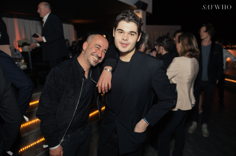 Saif Mahdi & Roberto Cavalli Jr at Belvedere Vodka event at Cannes 2014 (Photography: Virgile Guinard via saywho.fr)