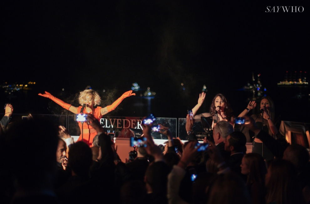 Rita Ora performs at Belvedere Vodka event at Cannes 2014 (Photography: Virgile Guinard via saywho.fr)