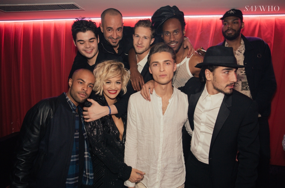 Alex Sossah, Roberto Cavalli Jr, Rita Ora, Philippe Uter, Saif Mahdhi, Willy Cartier | Trois Nuits au Baron at Cannes 2014 (Photography: Virgile Guinard via saywho.fr)