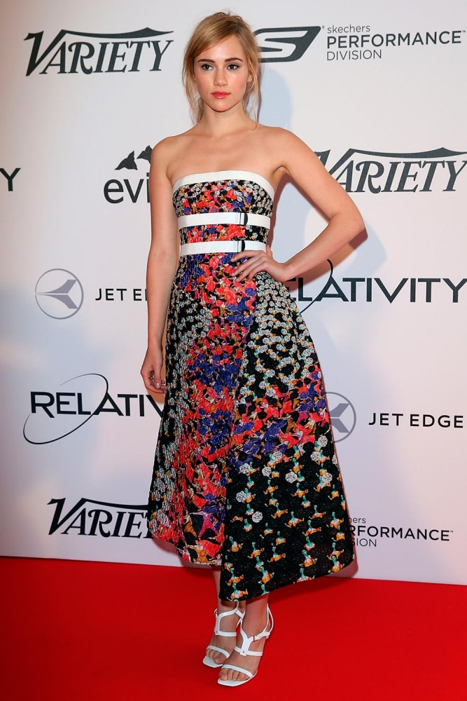 Suki Waterhouse at Variety event at Cannes 2014 (Photography: Michael Buckner/Getty Images for Variety via metro.co.uk)