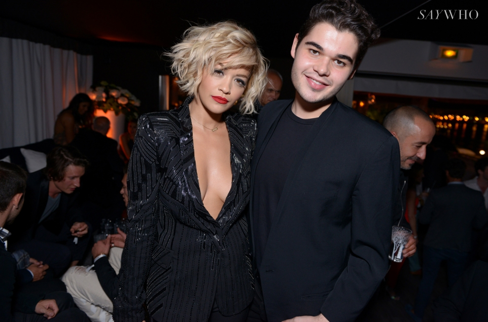 Rita Ora & Roberto Cavalli Jr at Le Club D'Albane at Cannes 2014 (Photography: Jean Picon via saywho.fr)