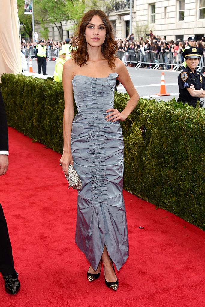 Alexa Chung attends 2014 Met Gala wearing Nina Ricci. (Photography: Getty Images via Style.com)