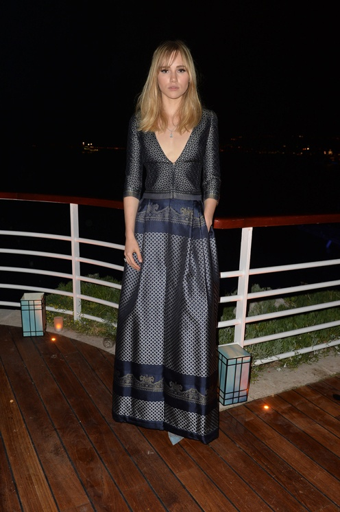 Suki Waterhouse at Giorgio Armani event at Cannes 2014