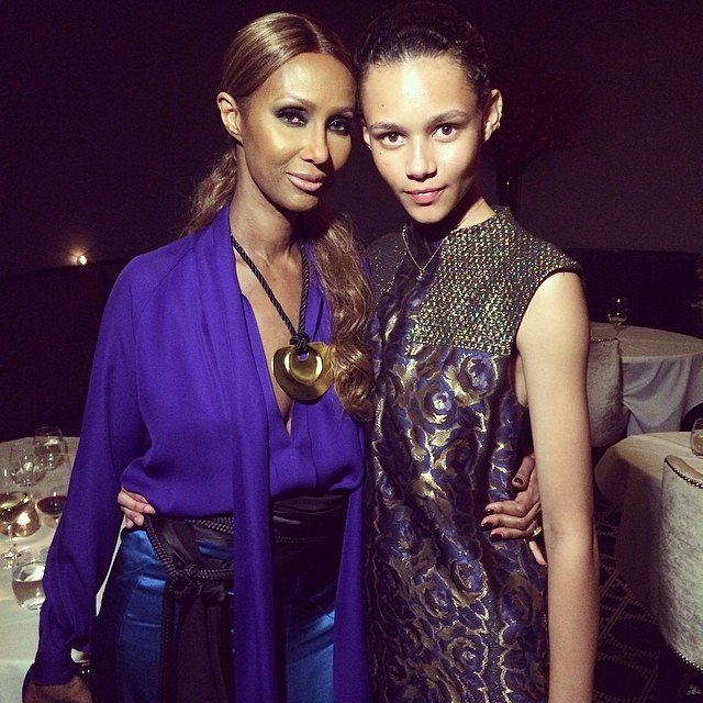 Binx and Iman attend the 2014 CFDA Fashion Awards (Photography: Kyle Hagler via instagram.com/kylehagler)