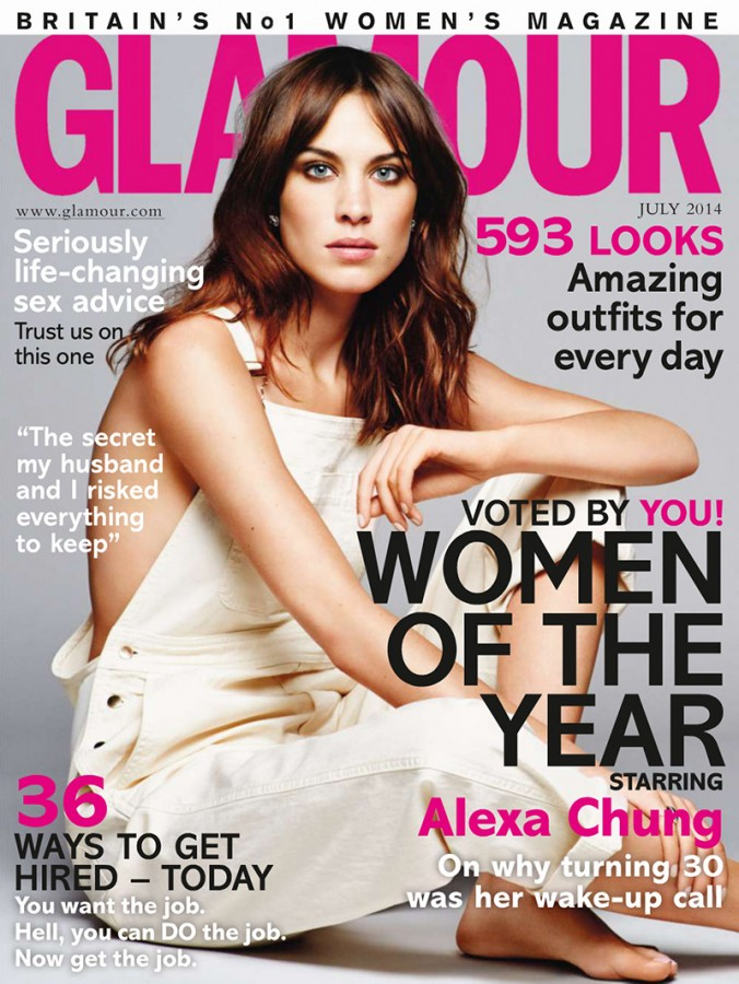 Alexa Chung | Glamour UK July 2014 (Photography: Derek Kettela)