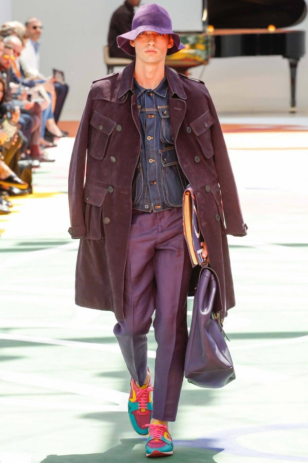 George Le Page (O) | Burberry Prorsum Spring 2015 Menswear (Photography: Marcus Tondo / Indigitalimages.com via Style.com)