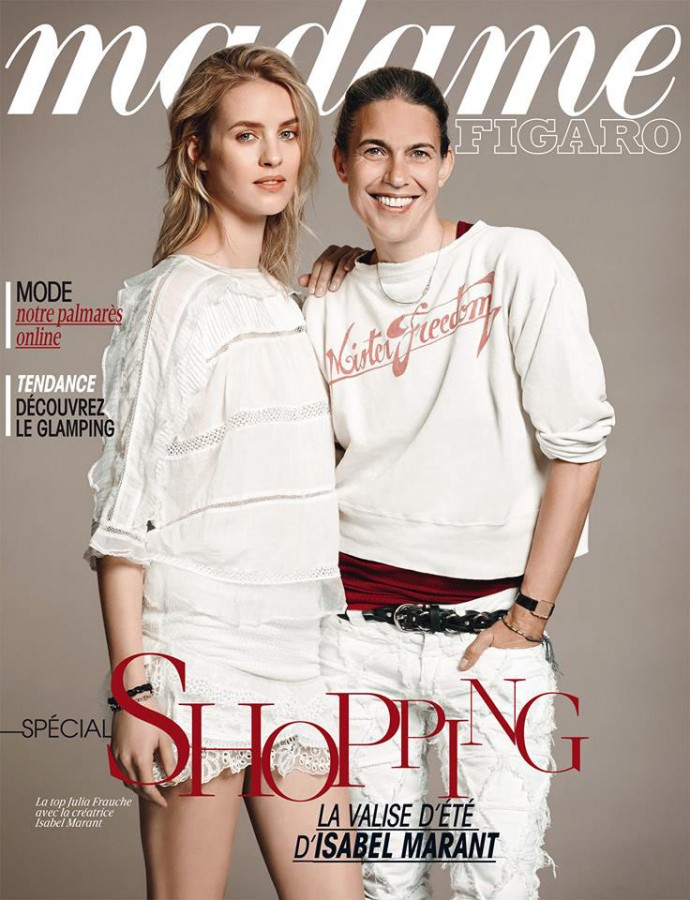 Julia Frauche with Isabel Marant | Madame Figaro June 2014 (Photography: Laurent Humbert)