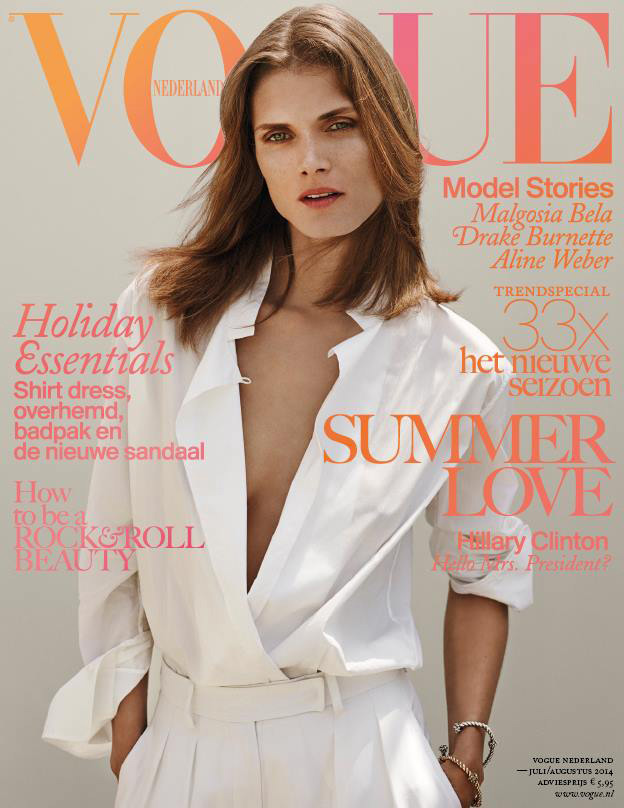 Malgosia Bela | Vogue Nederland July / August 2014 (Photography: Annemarieke Van Drimmelen)