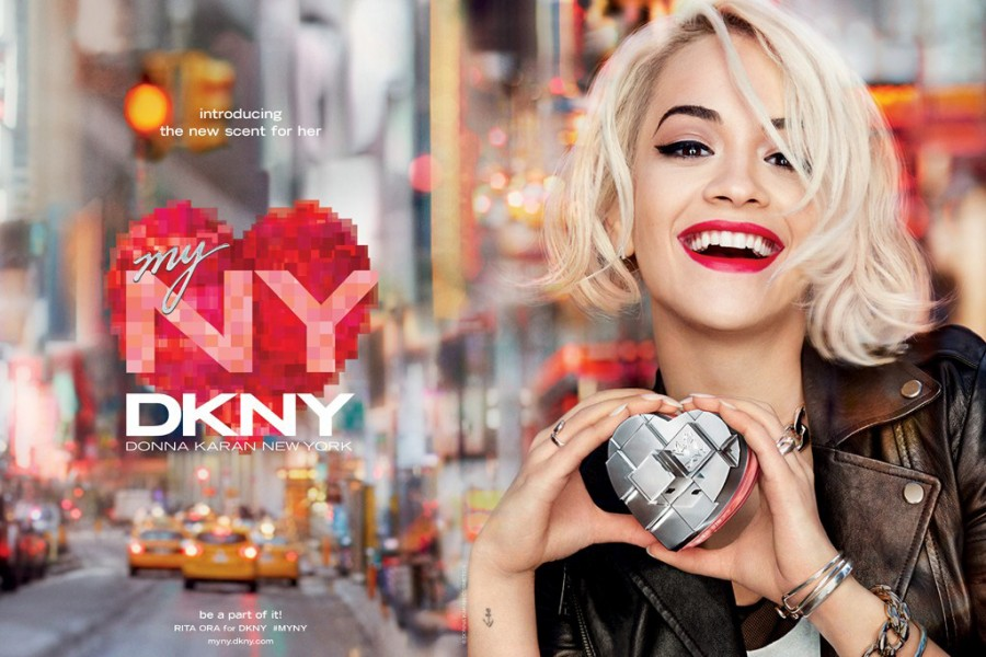 Rita Ora for DKNY My NY Fragrance (Photography: Francesco Carrozzini via wwd.com)