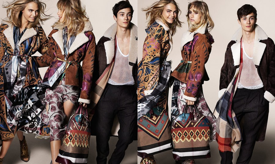 Suki Waterhouse for Burberry Autumn / Winter 2014 (Photography: Mario Testino)