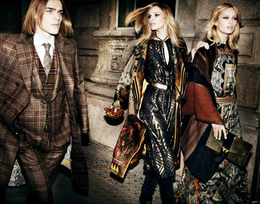 Suvi Koponen for Etro Fall 2014 (Photography: Mario Testino)