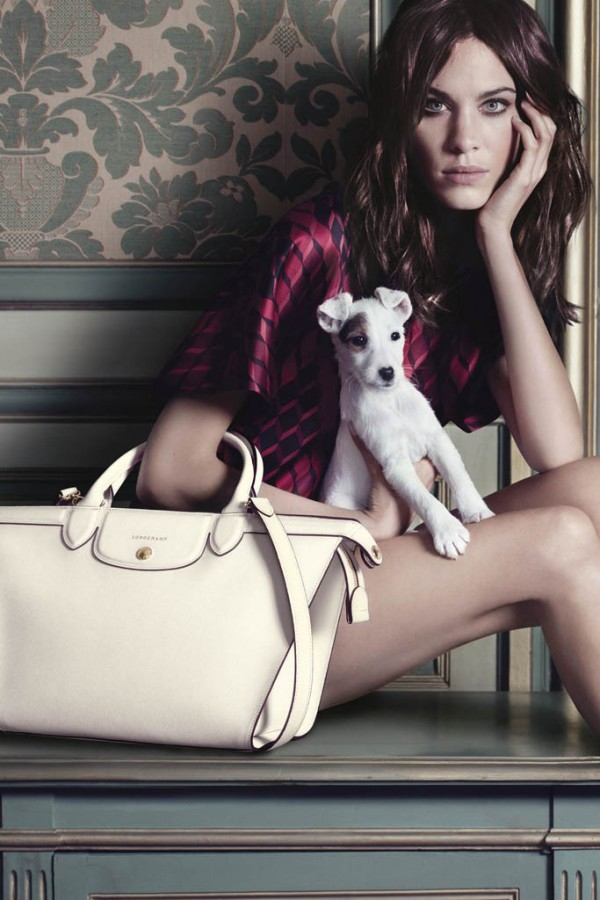 Alexa Chung for Longchamp Fall 2014 (Photography: Max Vadukul)