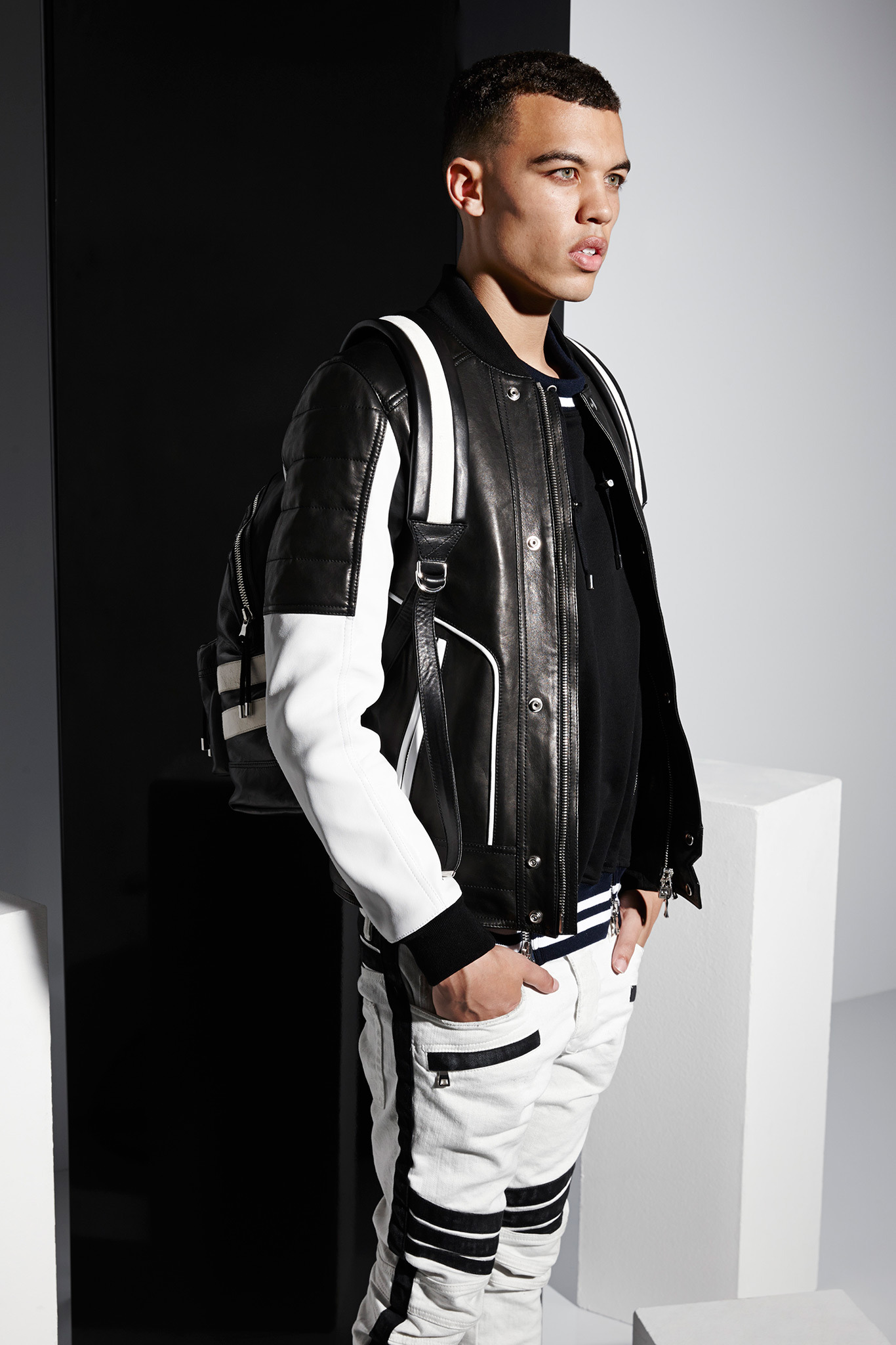 Dudley O'Shaughnessy | Balmain Spring 2015 (Photography: courtesy of Balmain via Style.com)