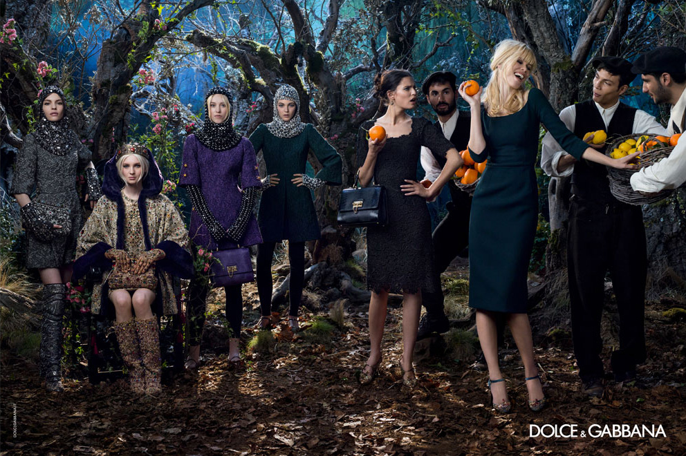 Kate B for Dolce & Gabbana Fall 2014 (Photography: Domenico Dolce)