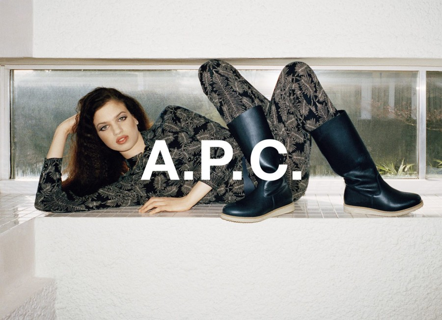 Lily McMenamy for A.P.C. Fall 2014 (Photography: Walter Pfeiffer)