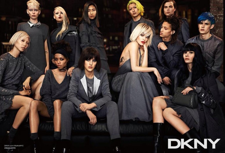 Rita Ora for DKNY Fall 2014 (Photography: via twitter.com/dkny)