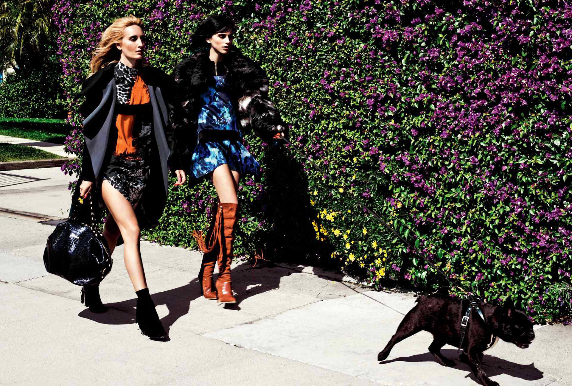 Ruby Stewart & Langley Fox Hemingway for Just Cavalli Fall 2014 (Photography: Michel Comte)