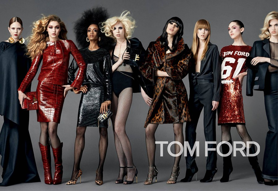 Sabrina Ioffreda & Lida Fox for Tom Ford Fall 2014 (Photography: Johnny Dufort)