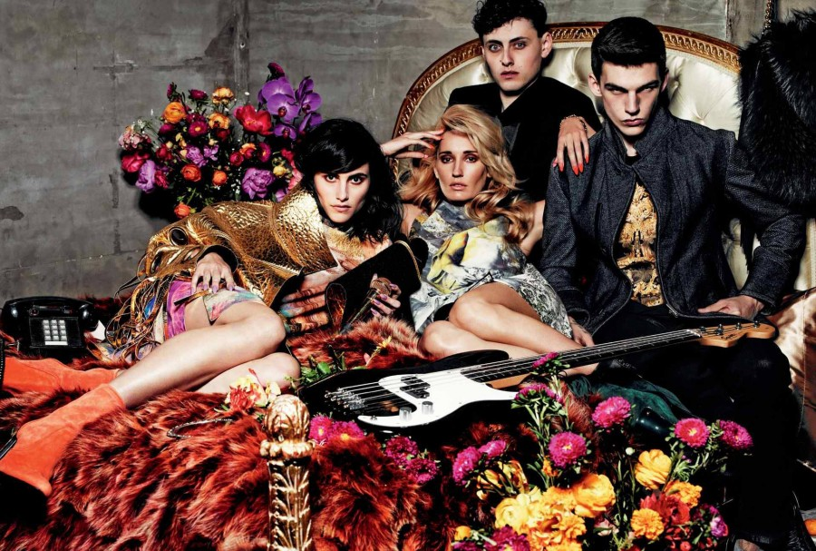 Langley Fox Hemingway, Ruby Stewart & Miles Hurley for Just Cavalli Fall 2014 (Photography: Michel Comte)