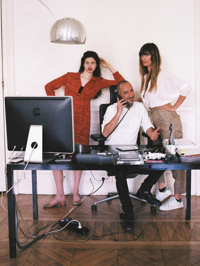 Saif Mahdhi with Lily McMenamy and Caroline de Maigret | Jalouse July / August 2014 (Photography: Sara Nataf)