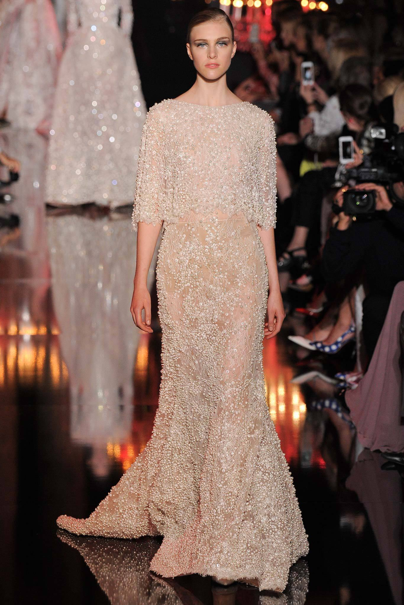 Hedvig Palm | Elie Saab Fall 2014 Couture (Photography: Yannis Vlamos / Indigitalimages.com via Style.com)