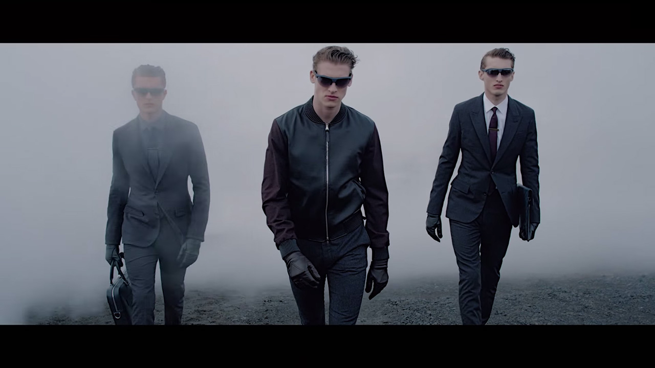 Joel Meacock | Louis Vuitton Men's Fall 2014 Lookbook (Video still: Kim Jones)
