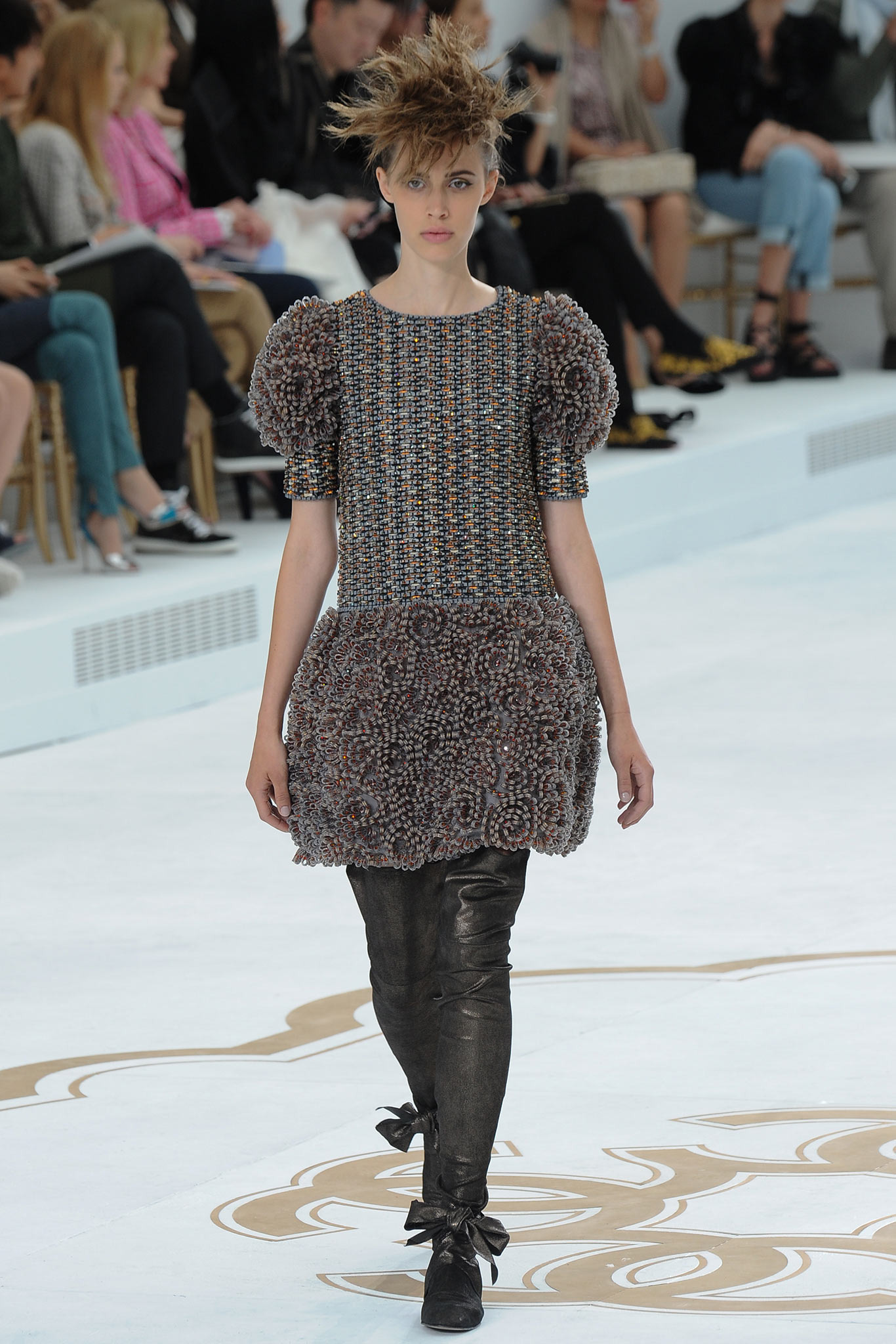 Georgia Hilmer | Chanel Fall 2014 Couture (Photography: Kim Weston Arnold / Indigitalimages.com via Style.com)