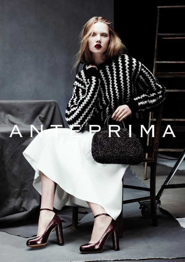 Holly Rose for Anteprima Fall / Winter 2014 (Photography: Ben Hassett)