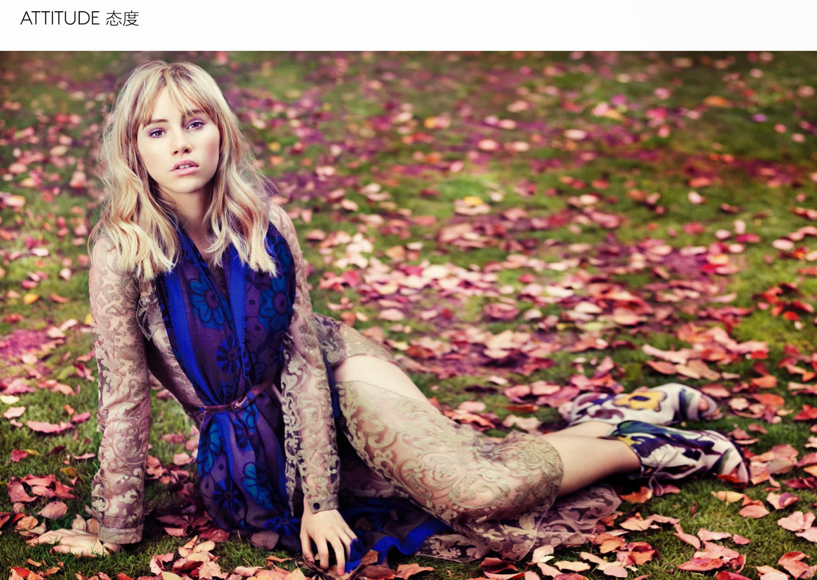 Suki Waterhouse | Vogue China August 2014 (Photography: Stockton Johnson)