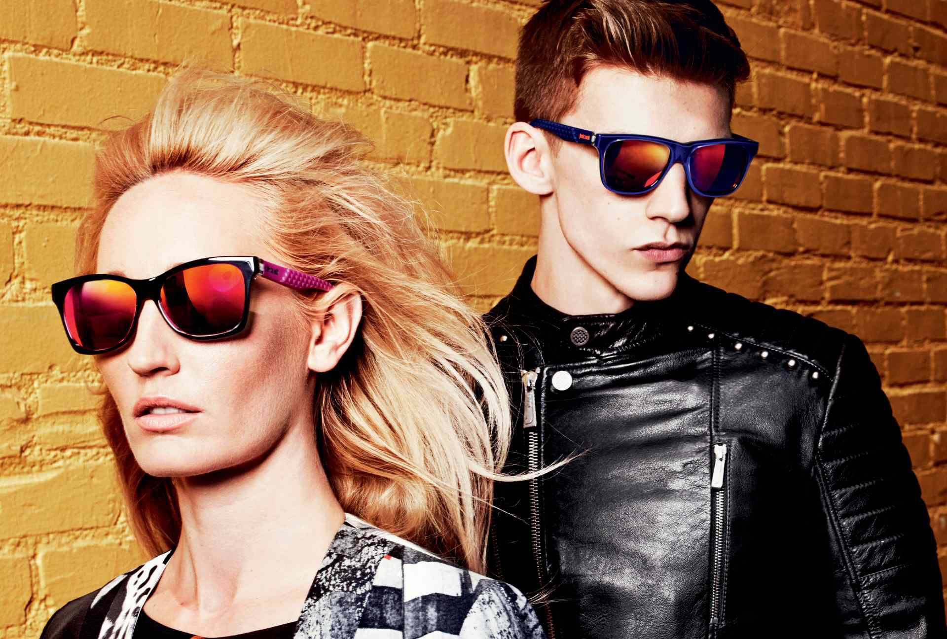 Ruby Stewart & Miles Hurley for Just Cavalli Fall 2014 (Photography: Michel Comte)