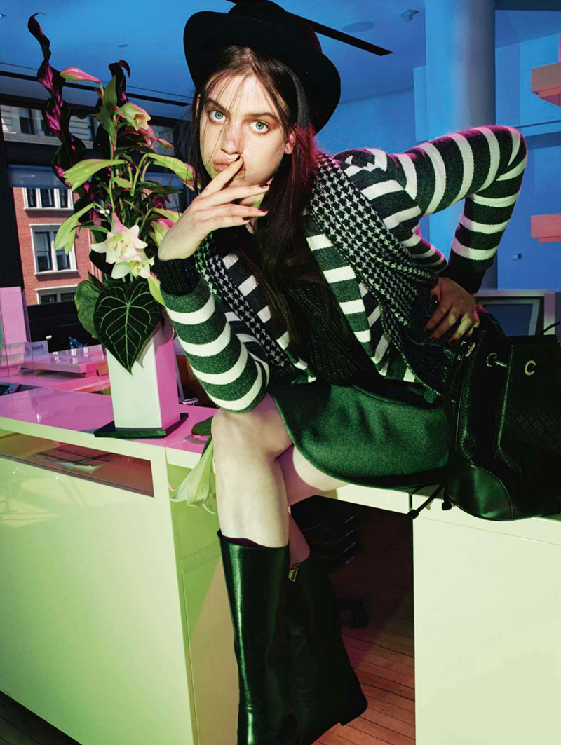 Lily McMenamy | Jalouse July / August 2014 (Photography: Alexei Hay)